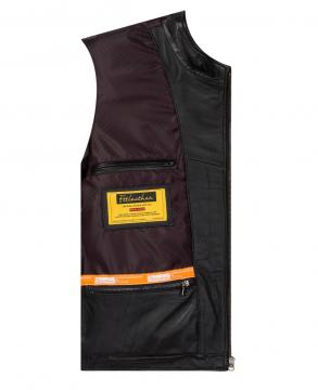 Áo da bò Racer Jacket - S2020 Gân vai nâu - Mã 2009B40