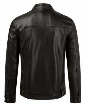 Áo da bò Racer Jacket - S2020 - Xanh rêu - Mã 2007b06