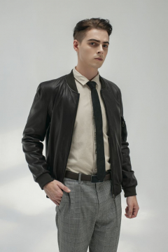 Áo da dê Bomber Jacket outlet 2018- FTT leather