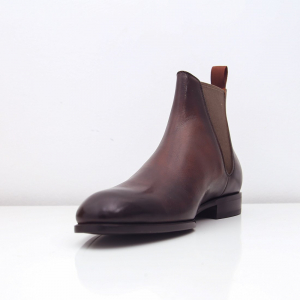 Chelsea boot S2020 đế da màu nâu Panita - FTT leather