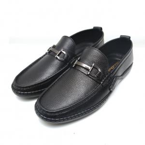 Giày lười nam vân hạt S2021 màu nâu -F0297BL FTT Leather