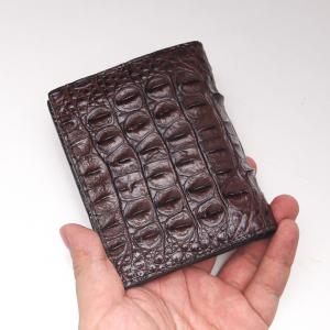 bóp da ca sau- Dáng đứng màu đen 2 mặt cá sấu Thái -S94B41GL