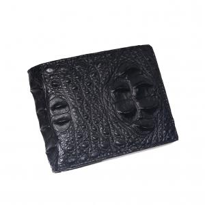 ví da cá sấu 2 mặt hàng công ty - Dáng ngang màu đen 2 mặt S94A40GD