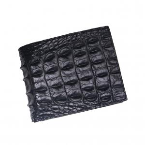 ví da cá sấu giá rẻ Dáng ngang màu đen 2 mặt S94A40GL
