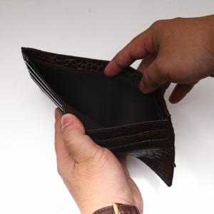 ví cầm tay cá sấu nam - Dáng ngang màu đen 2 mặt S94A41GD