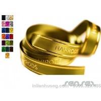 Ép kim, in nhũ vàng lên dây ruy băng (ribbons)