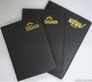 Sổ bìa da ép kim mạ vàng