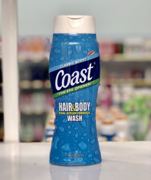 Tắm gội Coast Hair & Body Wash 532ml