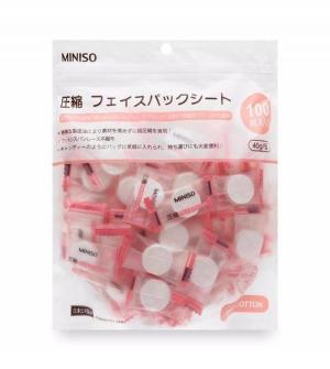 Mặt nạ giấy nén Miniso Nhật Bản (gói 100 viên)
