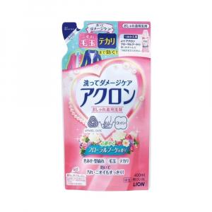 Nước giặt Lion Akuron Nhật Bản hương hoa (túi thay thế 400ml)