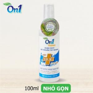Dung dịch rửa tay sát khuẩn nhanh On1 Protect 100ml (hương Bamboo Charcoal)