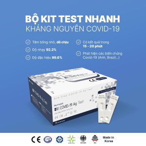 Kit test nhanh Covid tại nhà Humasis