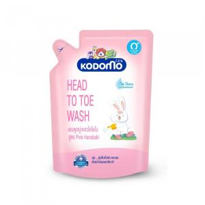 Dầu tắm gội trẻ em Kodomo Head to toe Pink Hanabaki 380ml