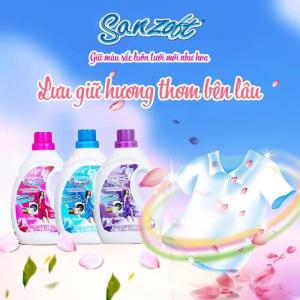Nước giặt xả đậm đặc Sanzoft Thái Lan 1800ml
