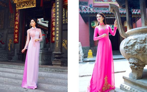 Áo dài cưới truyền thống cho cô dâu Việt năm 2016